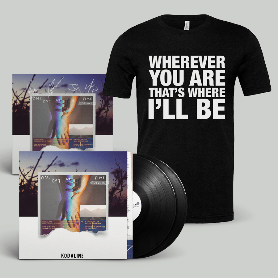Buy Online Kodaline - 'One Day At A Time' Black Double Vinyl + T-Shirt (Inc. Signed Art Print)