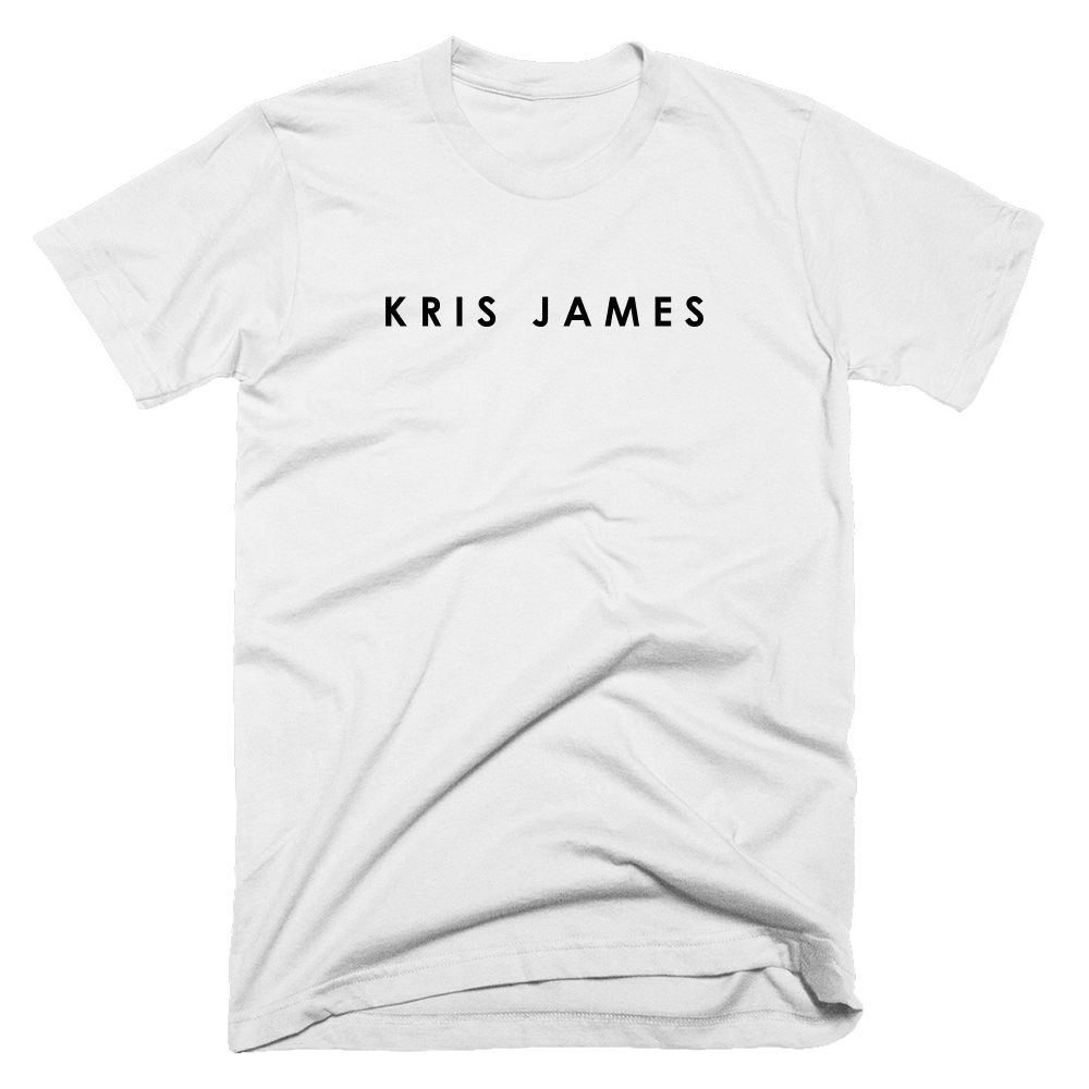 Buy Online Kris James - White Logo T-Shirt