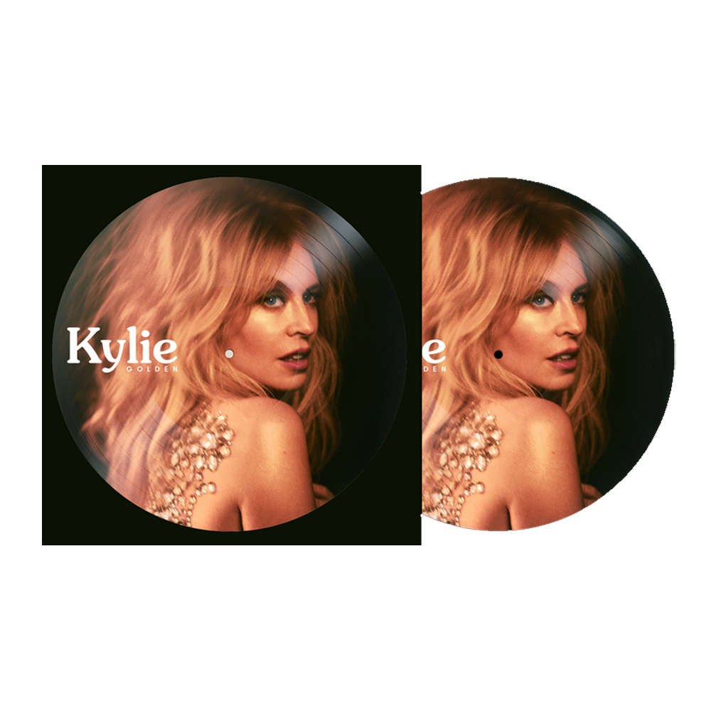 Buy Online Kylie - Golden Picture Disc Vinyl LP + Exclusive Portrait Photograph