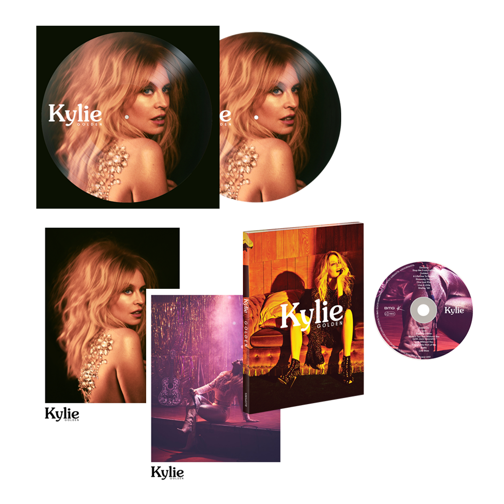 Buy Online Kylie - Golden Deluxe Picture Disc Bundle