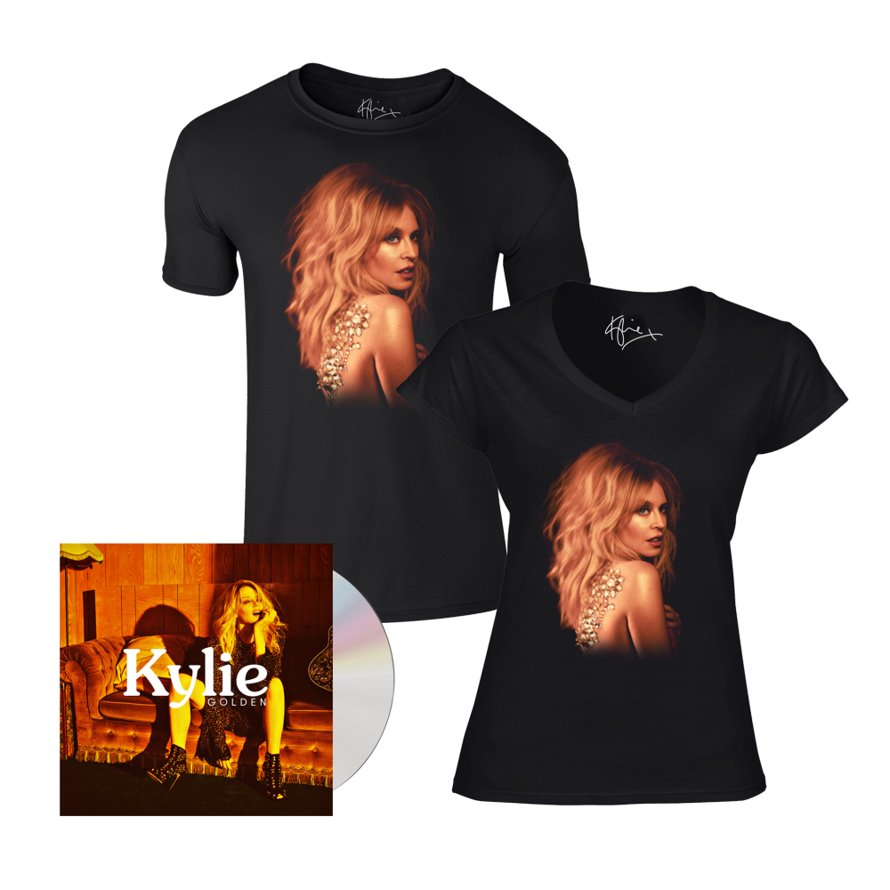 Buy Online Kylie - Golden CD Album + Portrait T-Shirt