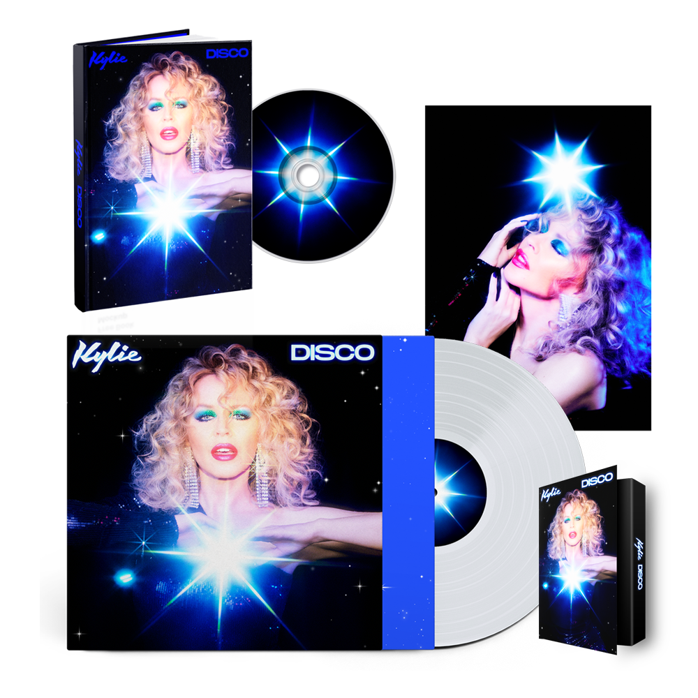 Buy Online Kylie - Disco Deluxe CD Album (Exclusive) + Clear Vinyl (Exclusive) + Cassette (Exclusive) + Photograph (Exclusive)