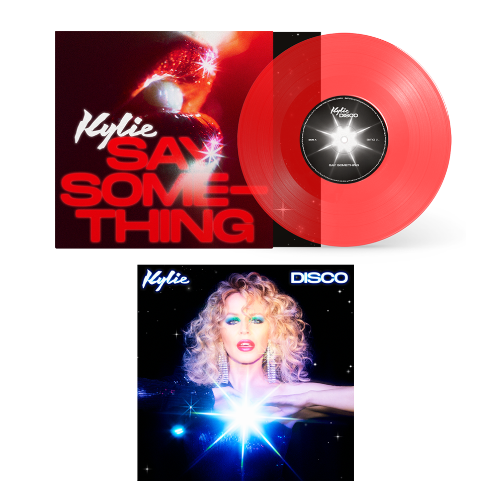 Buy Online Kylie - Disco Digital Album + Say Something Ltd Edition Transparent Red 7-Inch Vinyl