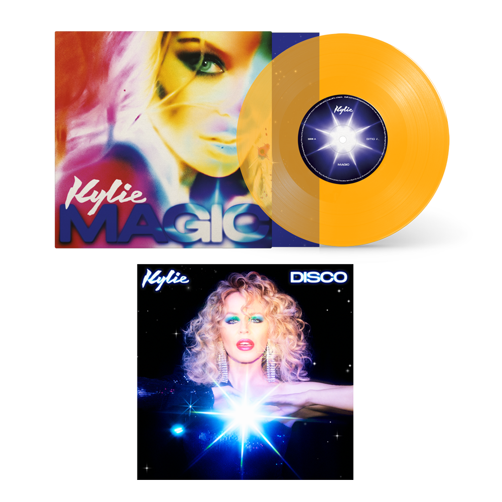 Buy Online Kylie - Disco Digital Album + Magic Ltd Edition Transparent Yellow 7-Inch Vinyl