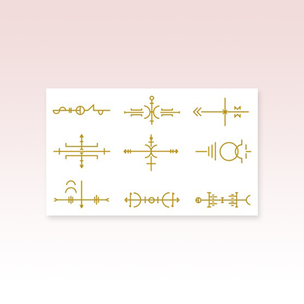 Buy Online Laura Marling - Metallic Gold Sigil Tattoo Sheet