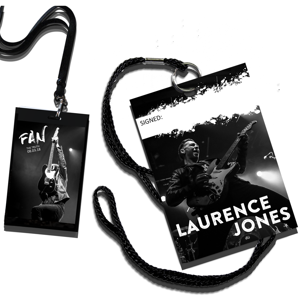 Buy Online Laurence Jones - Signed Ltd Edition Truth Tour Laminate with lanyard