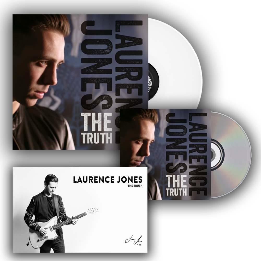 Buy Online Laurence Jones - Deluxe Bundle - Signed White Vinyl - Signed CD - Signed Photo Of Laurence