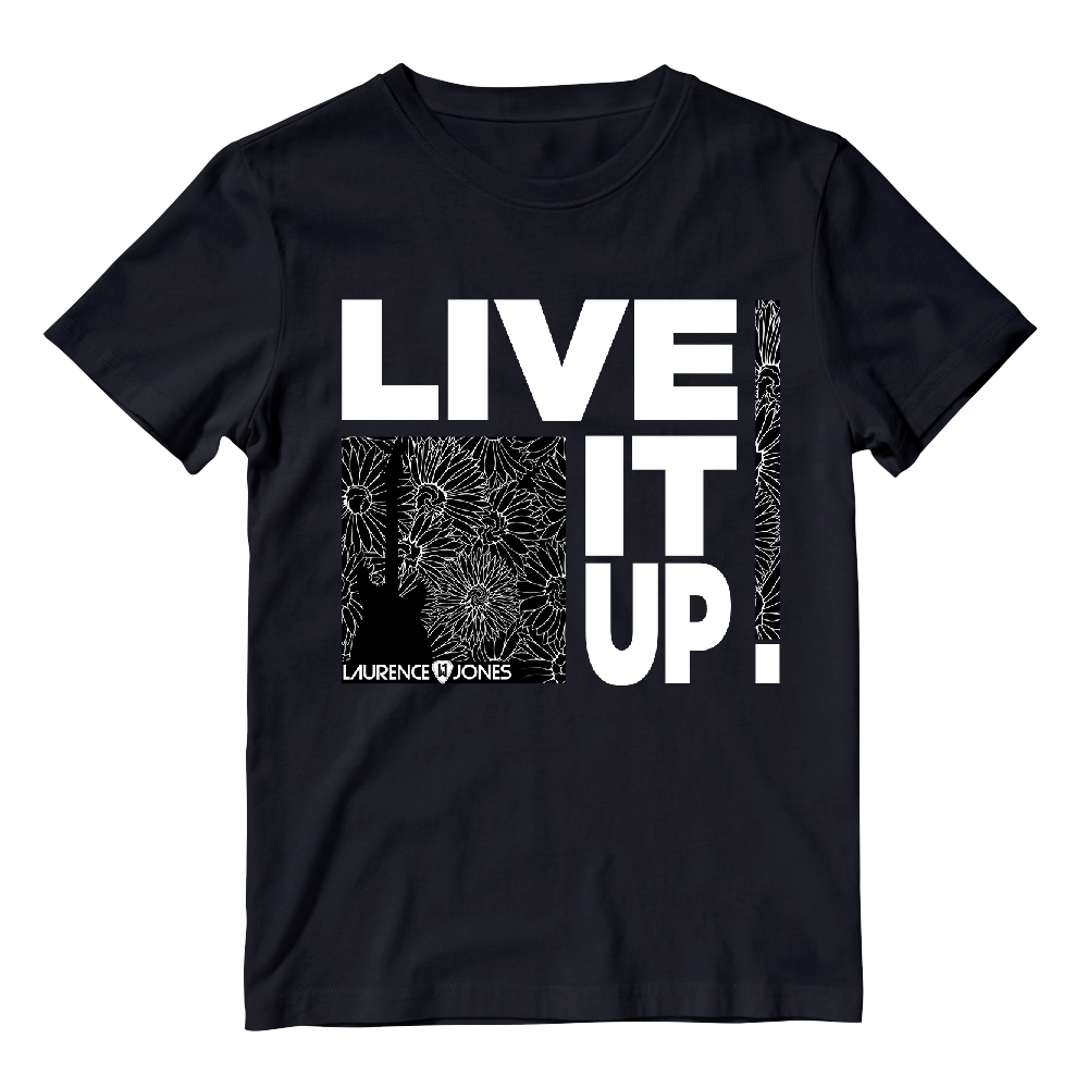 Buy Online Laurence Jones - Live It Up Black T-Shirt