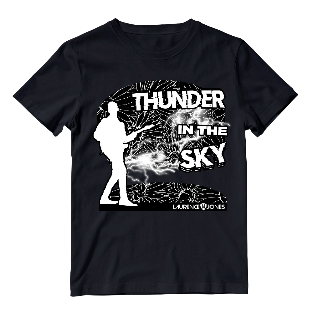 Buy Online Laurence Jones - Thunder In The Sky Black T-Shirt