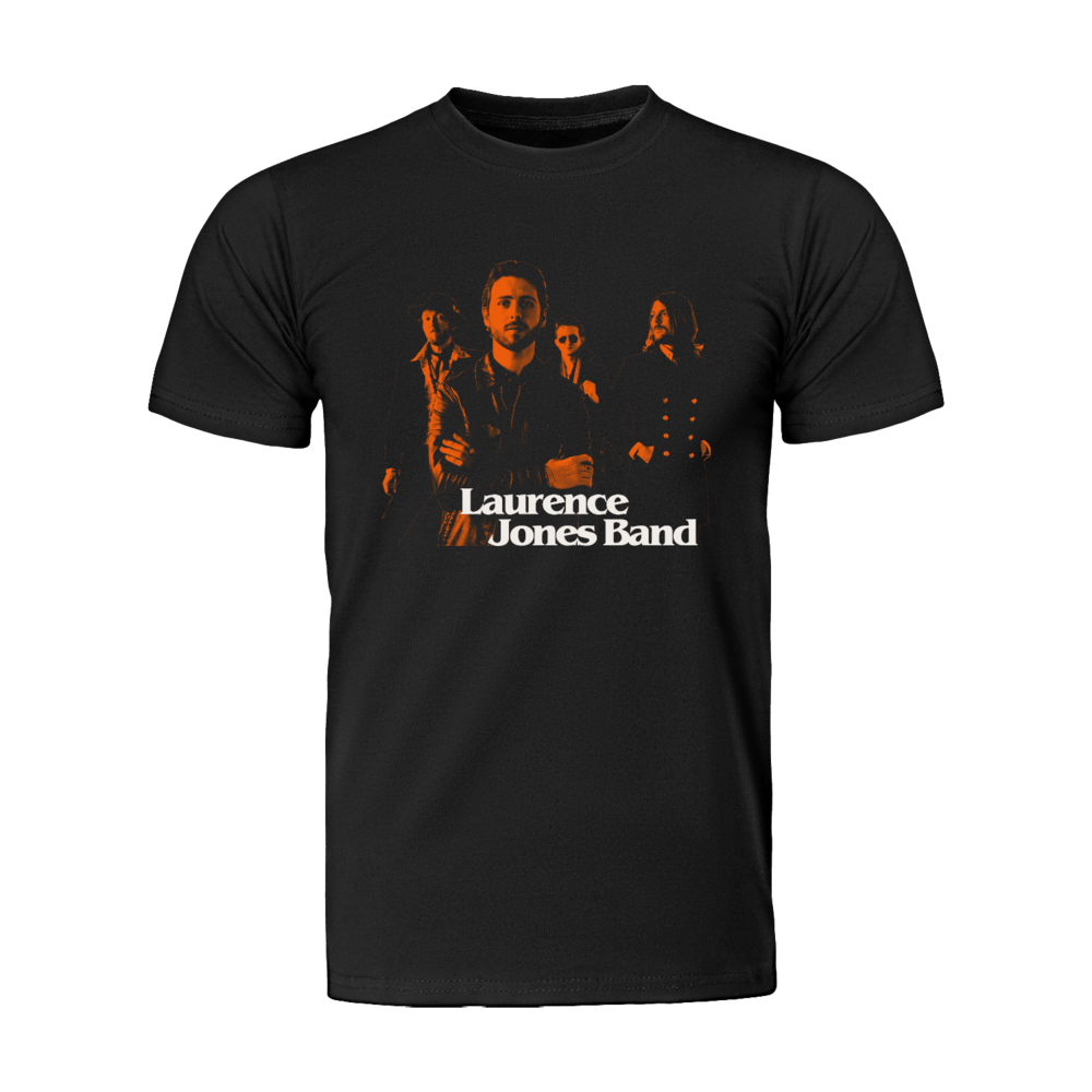 Buy Online Laurence Jones - Laurence Jones Band (Limited Edition) T-Shirt (Includes Ltd Edition Collectors Badge Set)