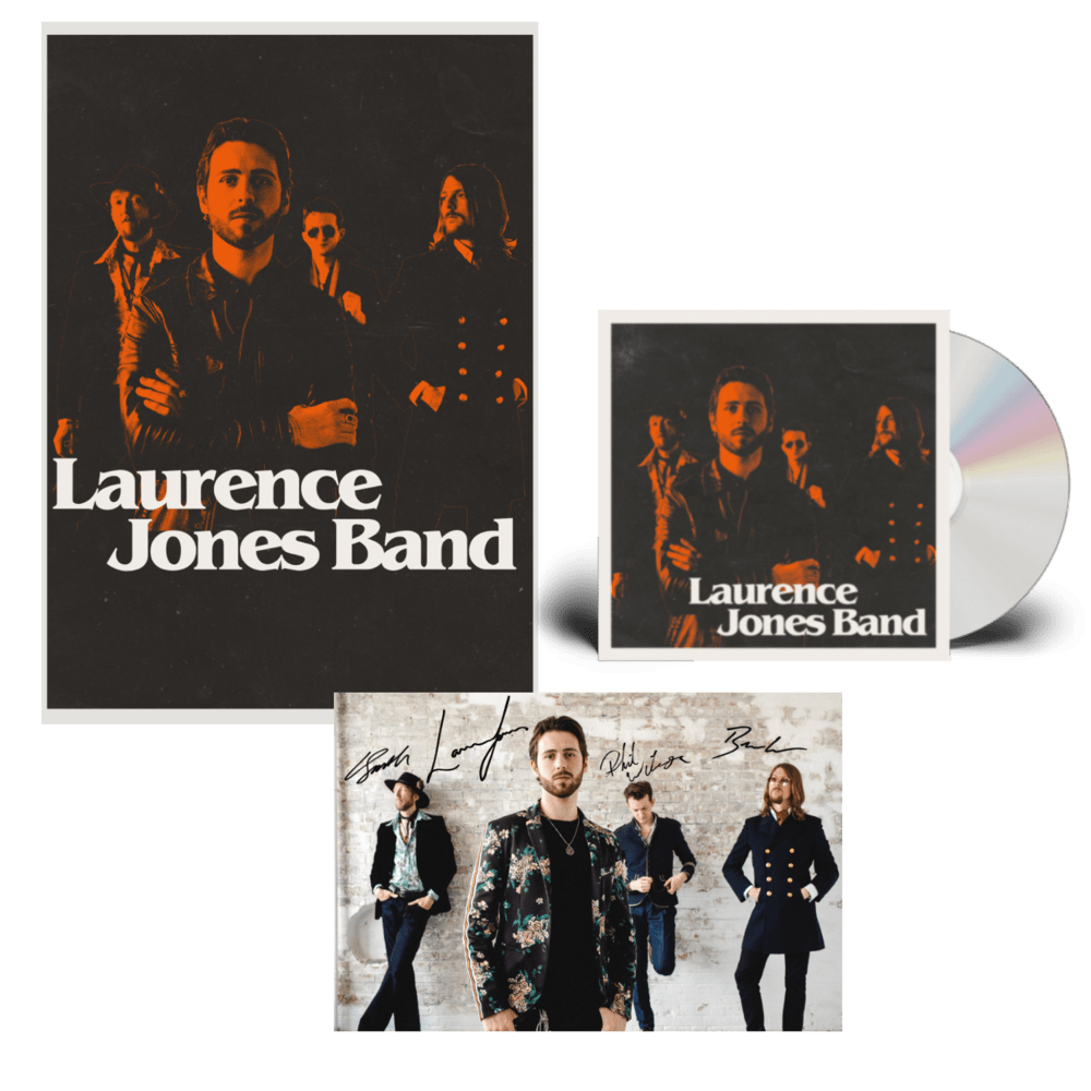 Buy Online Laurence Jones - Laurence Jones Band CD (Signed) (Inc Signed Photo) + A2 Numbered Poster