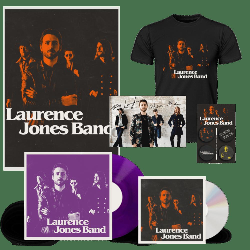 Buy Online Laurence Jones - Laurence Jones Band CD (Signed) (Inc Signed Photo) + Coloured Vinyl (Signed) + A2 Numbered Poster + T-Shirt (Inc Badges)