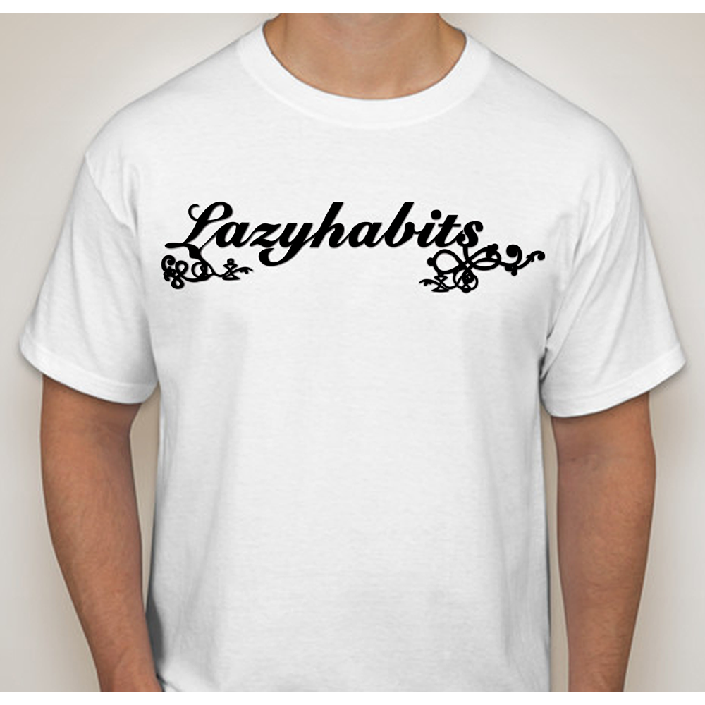 Buy Online Lazy Habits - Lazy Habits White T-Shirt
