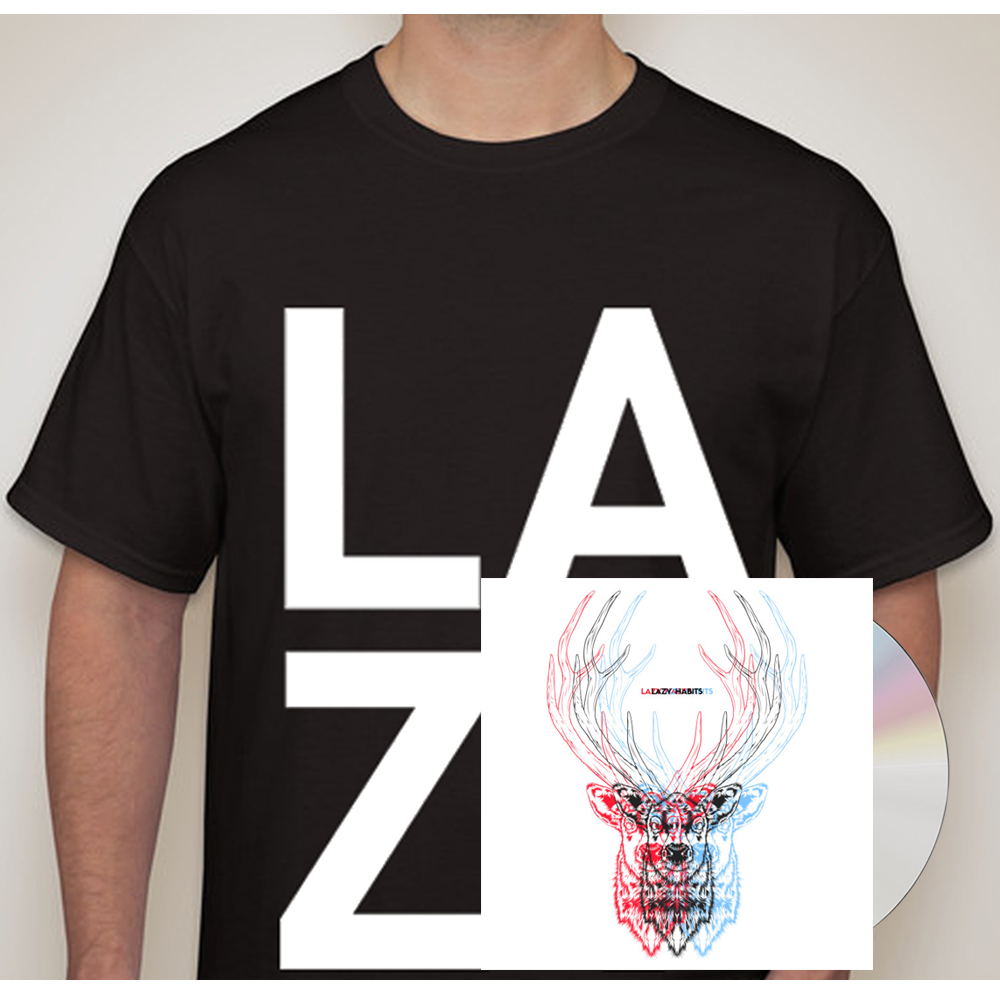Buy Online Lazy Habits - The Atrocity Exhibition CD - Black L A Z Y T-Shirt