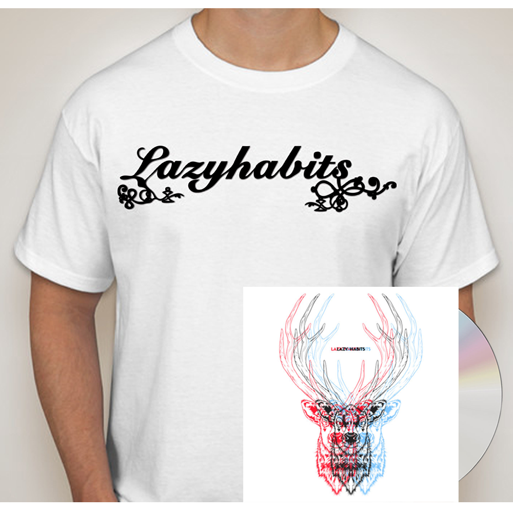 Buy Online Lazy Habits - The Atrocity Exhibition CD + Lazy Habits White T-Shirt