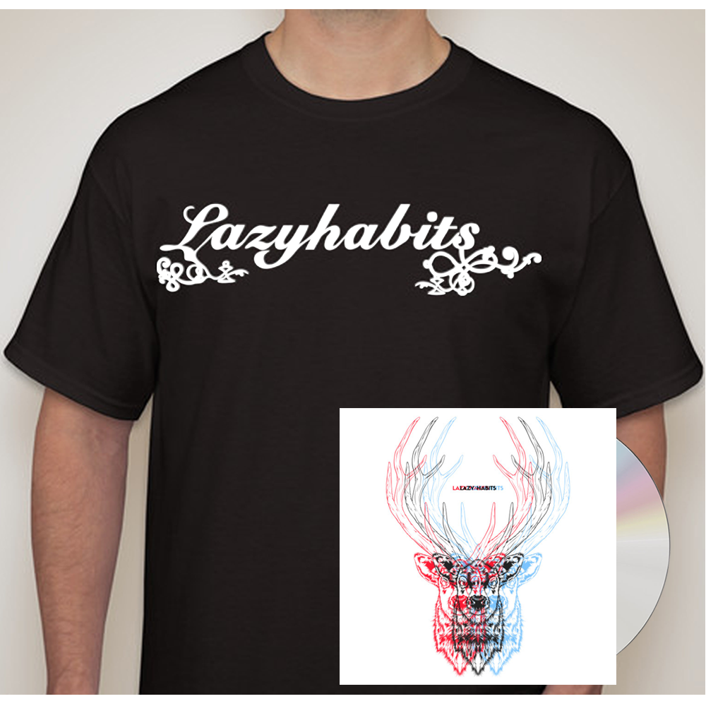 Buy Online Lazy Habits - The Atrocity Exhibition CD - Lazy Habits Black T-Shirt