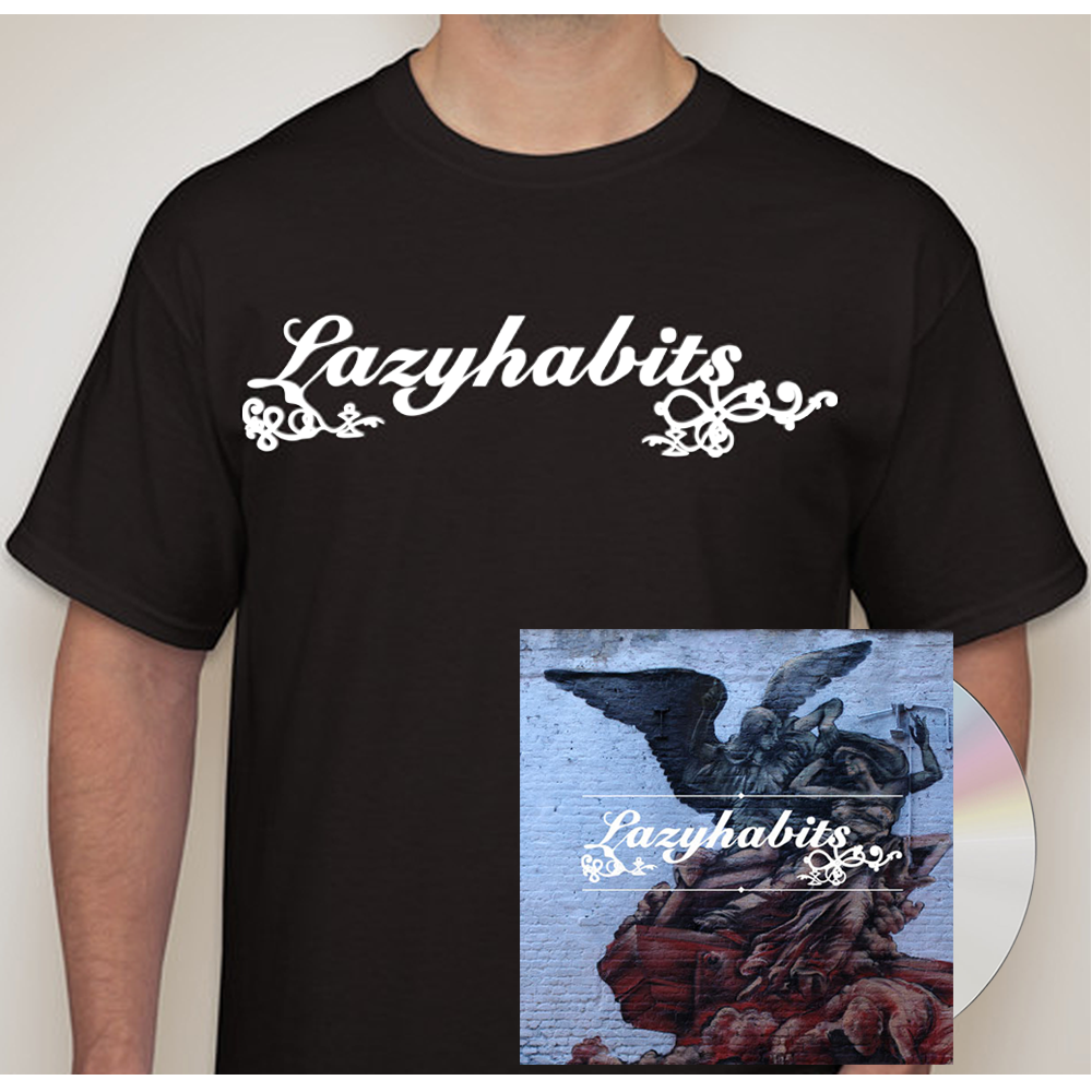 Buy Online Lazy Habits - Lazy Habits CD - Lazy Habits Black T-Shirt
