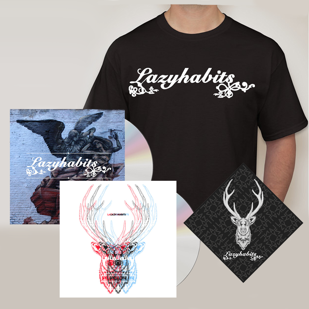 Buy Online Lazy Habits - The Atrocity Exhibition CD - Lazy Habits CD - Lazy Habits Black T-Shirt - Bandana