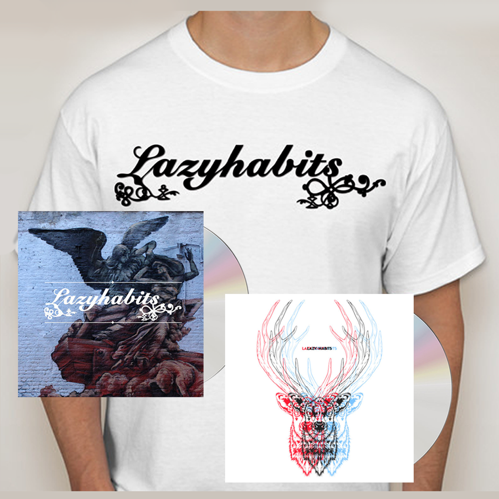 Buy Online Lazy Habits - The Atrocity Exhibition CD - Lazy Habits CD - Lazy Habits White T-Shirt