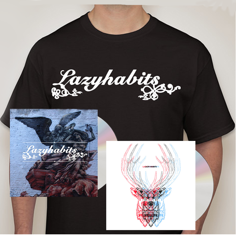 Buy Online Lazy Habits - The Atrocity Exhibition CD - Lazy Habits CD - Lazy Habits Black T-Shirt