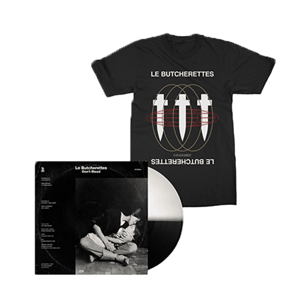 Buy Online Le Butcherettes - Don't Bleed Black & White Split Vinyl EP + Black T-Shirt