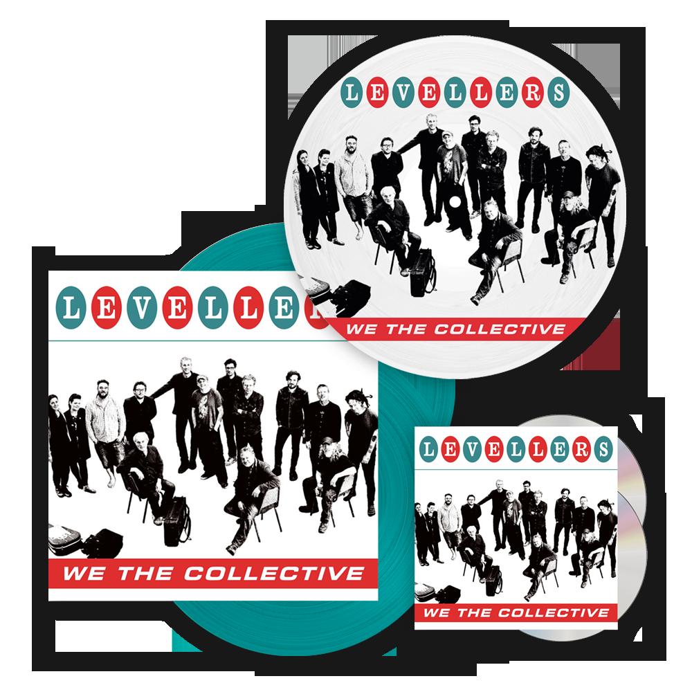 Buy Online The Levellers - We The Collective Deluxe CD + Deluxe Blue Vinyl LP + Picture Disc Vinyl LP