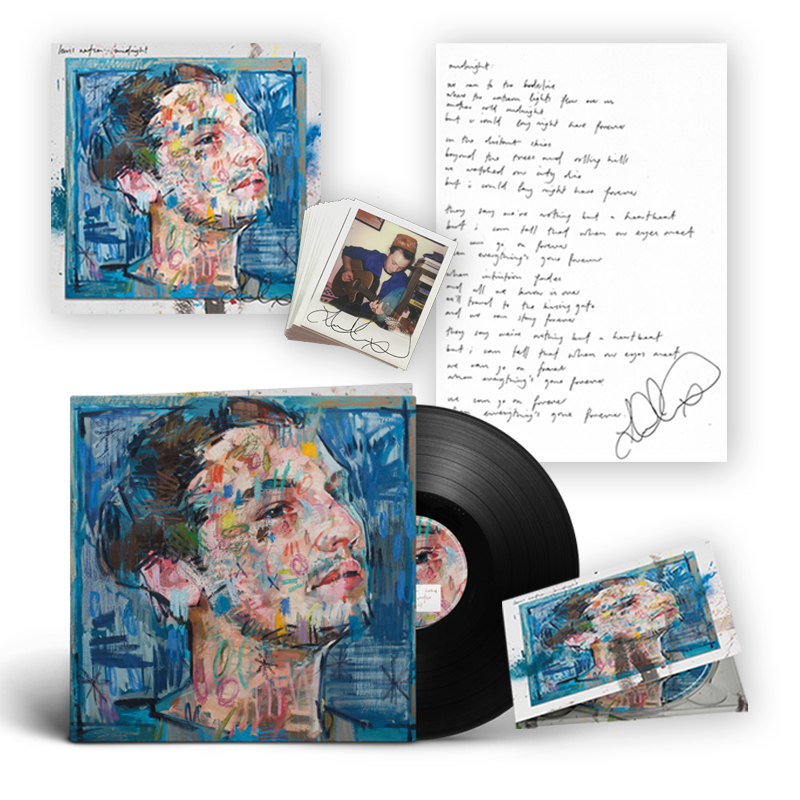Buy Online Lewis Watson - midnight cd + signed lyric print + vinyl lp + signed 12x12 art print + unique polaroid