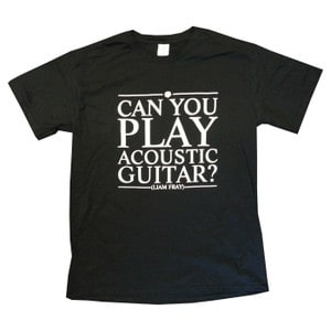 Buy Online Liam Fray - Mens Acoustic Black T-Shirt