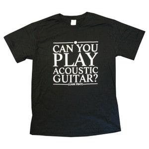 Buy Online Liam Fray - Mens Acoustic Black T-Shirt