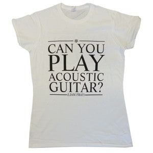 Buy Online Liam Fray - Ladies Acoustic White T-Shirt