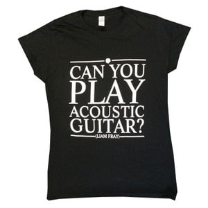 Buy Online Liam Fray - Ladies Acoustic Black T-Shirt