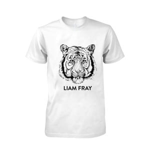 Buy Online Liam Fray - Mens Liam Fray Tiger White T-Shirt
