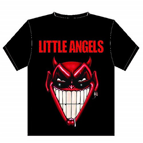 Buy Online Little Angels - Downloading T-Shirt Black