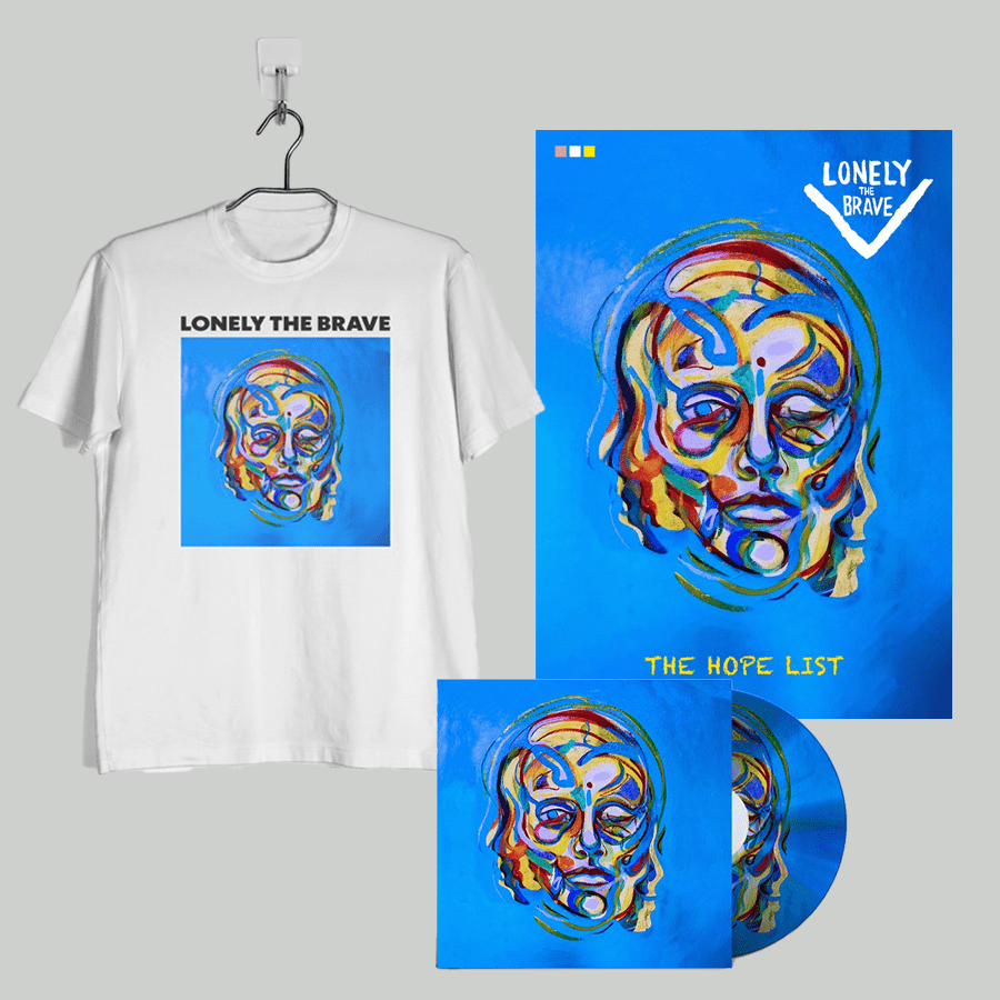 Buy Online Lonely The Brave - The Hope List (CD + T-Shirt + Signed, Numbered 300gsm Print)