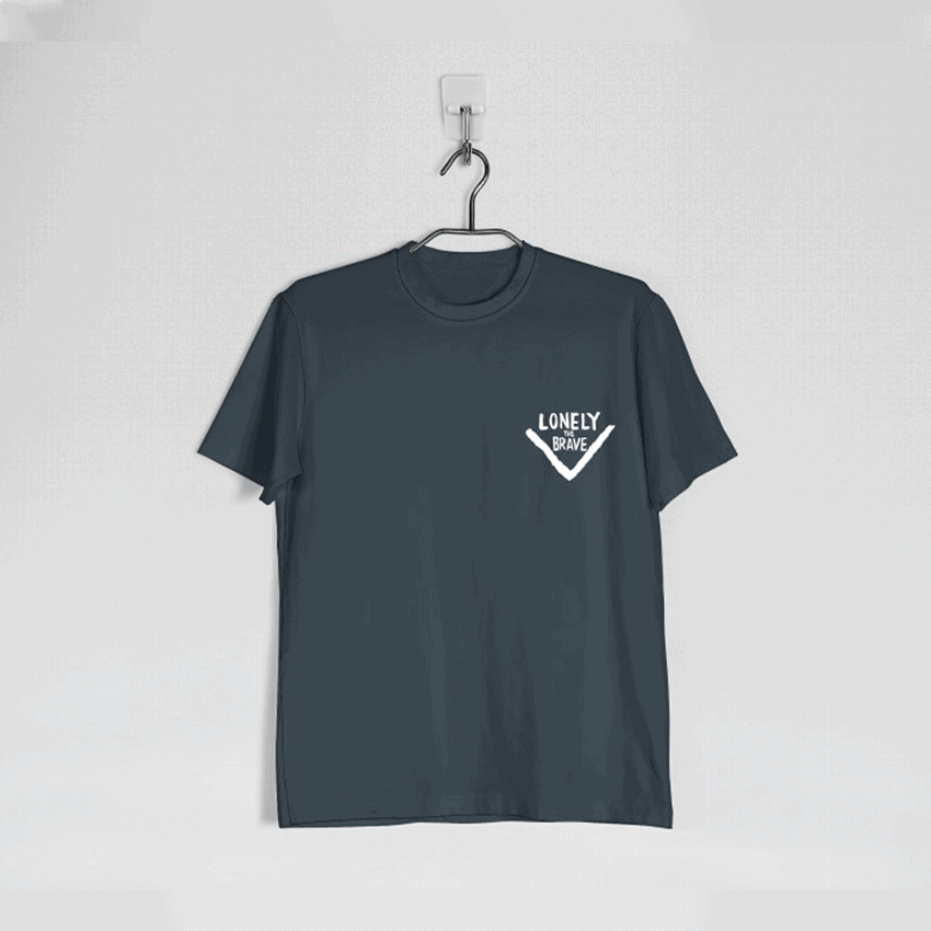 Buy Online Lonely The Brave - Lonely The Brave Charcoal Logo T Shirt