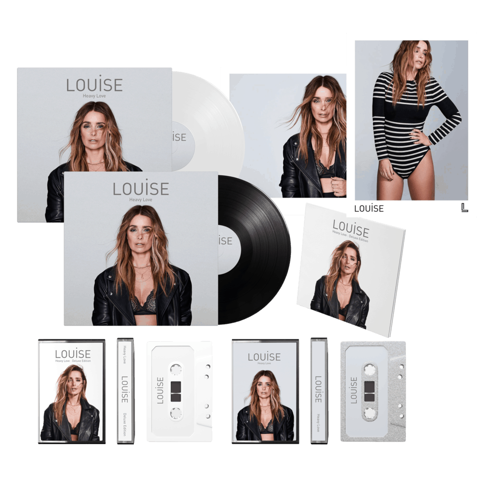 Buy Online Louise - Heavy Love - Deluxe CD, Ltd White LP, Standard LP, Both Cassettes & Signed Prints Bundle