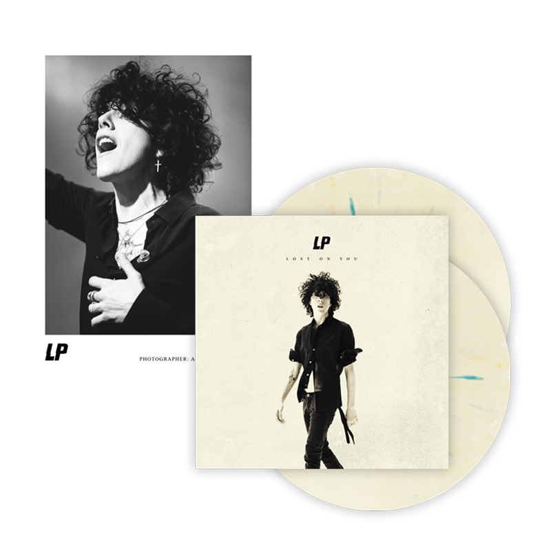 Buy Online LP - Lost On You Double LP (Ltd Edition Gatefold Splattered Cream Vinyl) + Exclusive Photograph