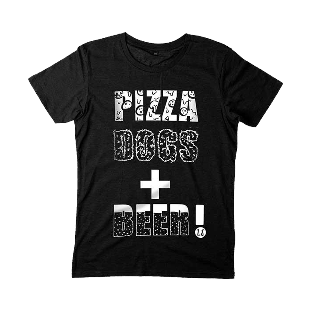 Buy Online Lucy Spraggan - Pizza Dogs + Beer Black T-Shirt