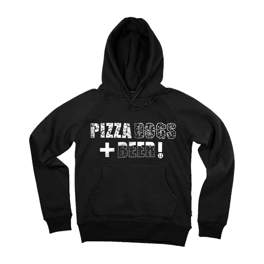 Buy Online Lucy Spraggan - Pizza Dogs + Beer Black Hoodie