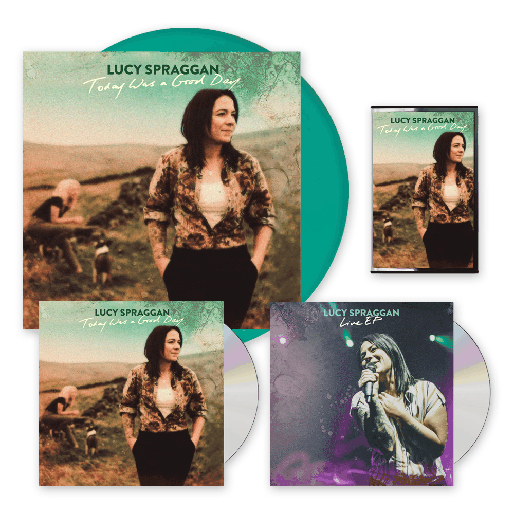 Buy Online Lucy Spraggan - Today Was A Good Day Signed CD + Transparent Green Vinyl + Cassette + Exclusive EP