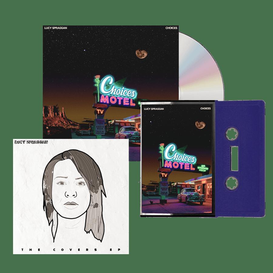 Buy Online Lucy Spraggan - Choices CD (Signed) + Purple Cassette (Inc Bonus Covers EP)