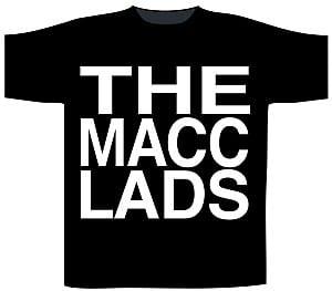 Buy Online The Macc Lads - Black Logo T-Shirt