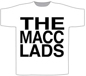 Buy Online The Macc Lads - White Logo T-Shirt