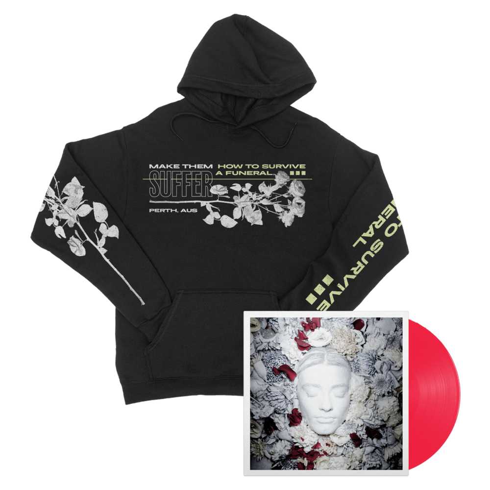 Buy Online Make Them Suffer - How To Survive A Funeral Neon Magenta Vinyl + Hoodie