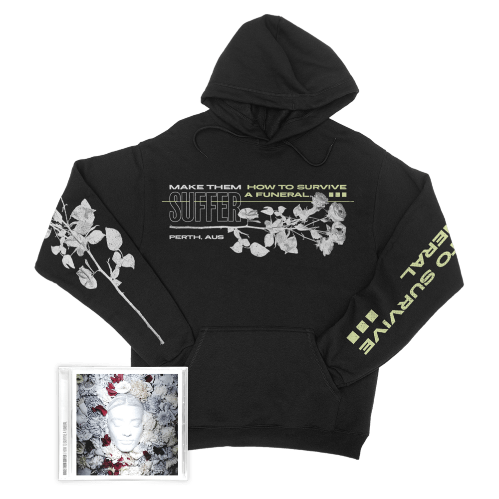Buy Online Make Them Suffer - How To Survive A Funeral CD Album + Hoodie