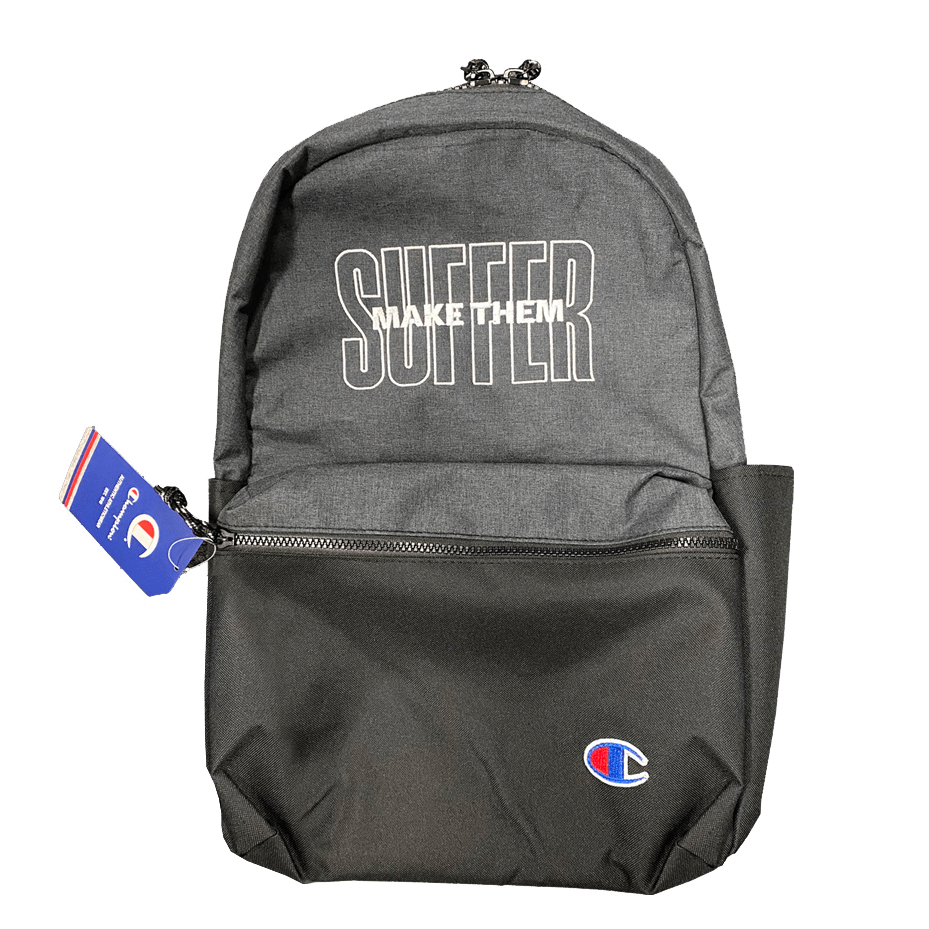 Buy Online Make Them Suffer - Embroidered Champion Backpack
