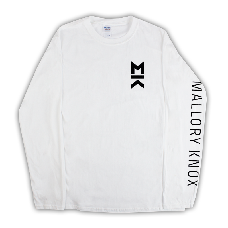 Buy Online Mallory Knox - MK White Longsleeve