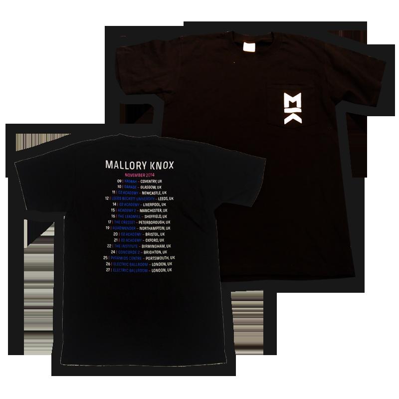 Buy Online Mallory Knox - Pocket Tour T-Shirt