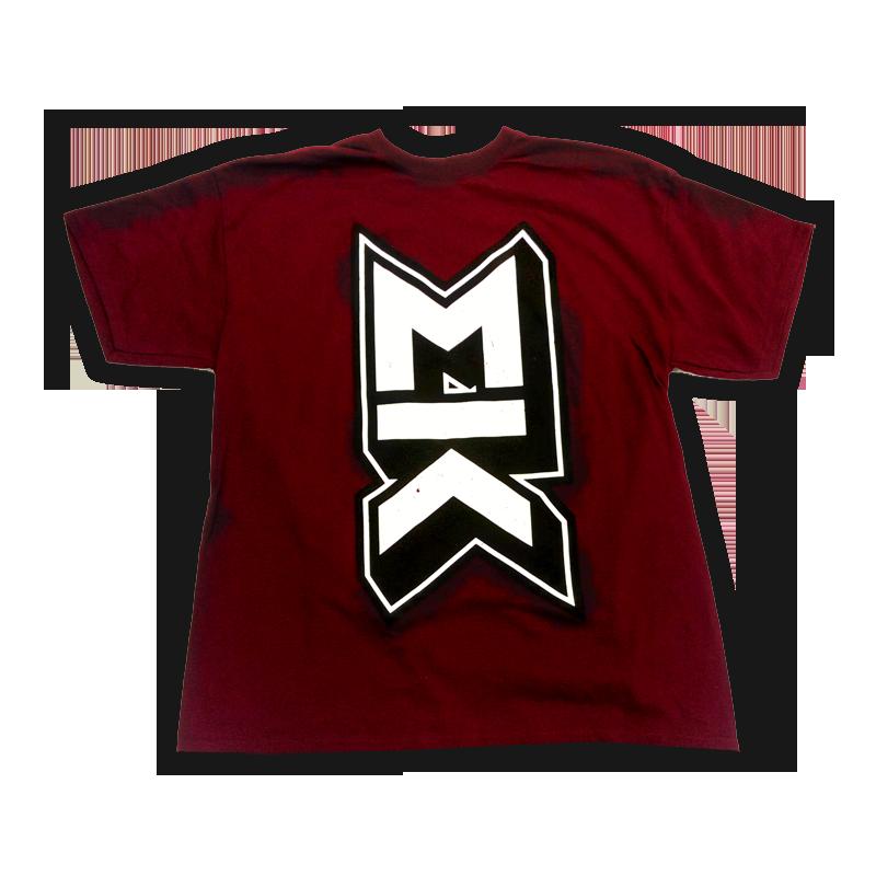 Buy Online Mallory Knox - MK Burgundy T-Shirt