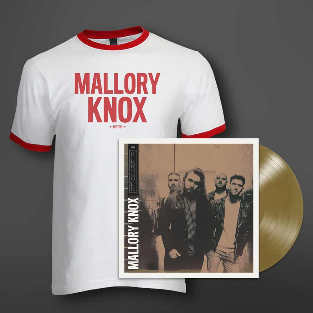 Buy Online Mallory Knox - Mallory Knox Aztec Gold Vinyl + T-Shirt Bundle